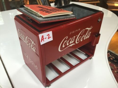 Extra Nice ALL-ORIGINAL 1939 Coca Cola Salesman Sample Cooler