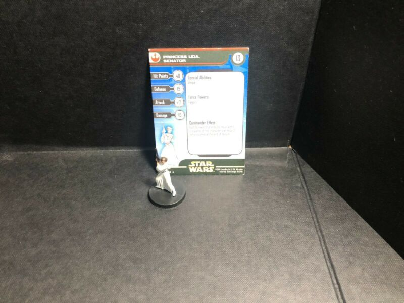 Star Wars Miniatures Princess Leia, Senator RS  w/ Card mini RPG Legion Assault