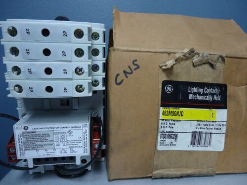 New GE 463M80NJD Lighting Contactor Mechanically Held 120V 30A 8 Pole 3 Wire NIB