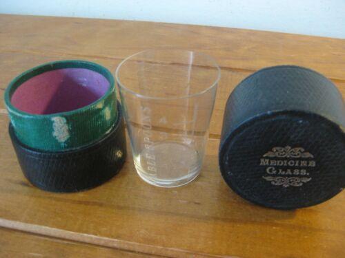 Antique Travel Medicine Glass + Case (VICTORIAN ERA) Mawson & Thompson