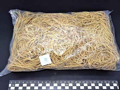 Set of 4 Bags Elastic bands rubber- blond- 80(Ø50)mm x 1.7mm- bag 1kg