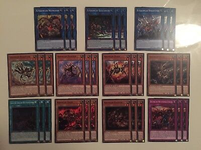 YUGIOH!! Krawler Deck Playset 33 Karten Komplett CIBR! C+SR! NM! DE! 1. Auflage!
