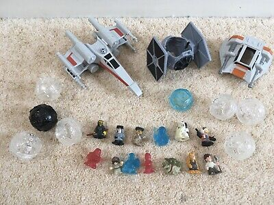 Star Wars Squinkies Bundle With Ships X Wing Tie Fighter Pods