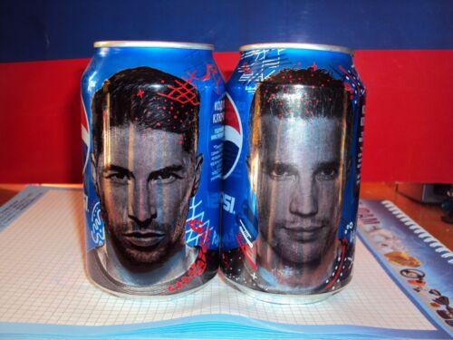 Two empty jars of Pepsi 2014!Exclusive!Sergio Ramos and Robert van Persie!