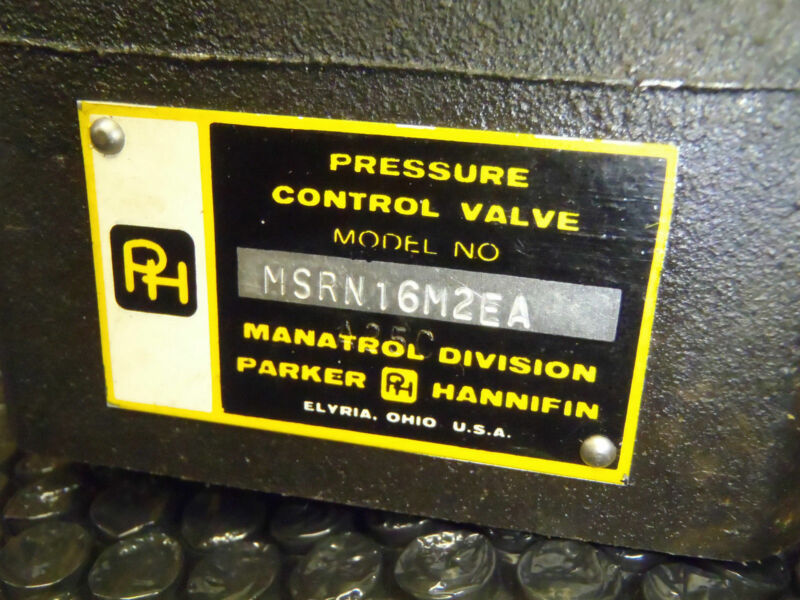 Parker Hannifin MSRN16M2EA Pressure Control Valve Module