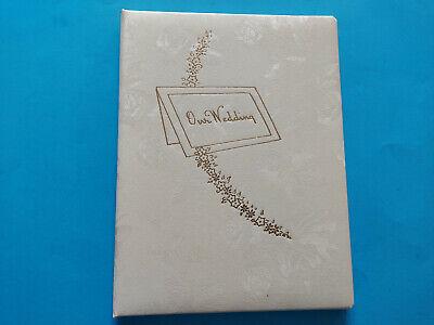 "Vintage Arondia ""Our Wedding"" Memory Book 1950s or 60s? In Original Box UNUSED"