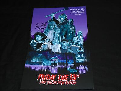 KANE HODDER Signed 11x17 New Blood Poster Jason Voorhees
