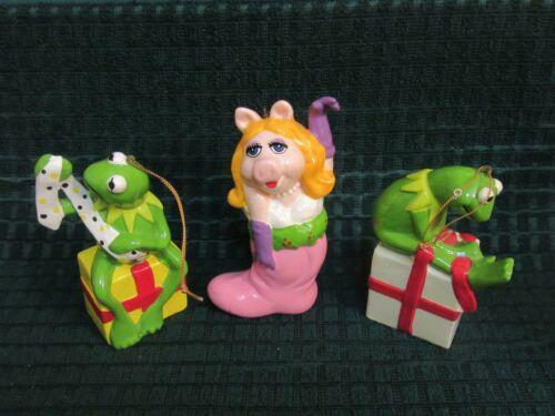 Vintage Kermit The Frog & Miss Piggy Ornaments Lot 1981