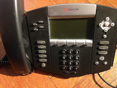 Polycom Voip Sound Point Ip550 Digital Ip Office Phone W. Power Supply