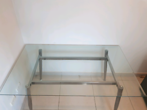 Glass dining table or desk