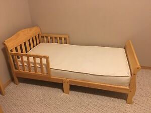Toddler bed ,mattress and crib