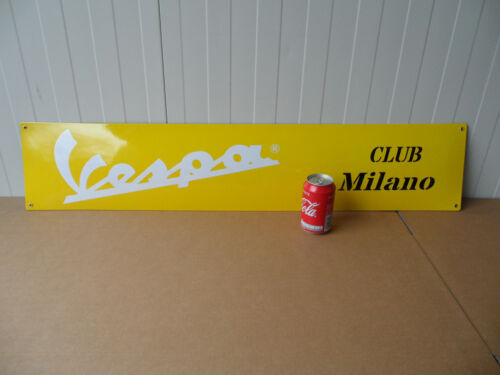 VESPA - Scooter Club MILANO - Emaille Emaillee Plaque Porcelain Enamel Sign #535