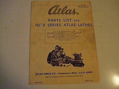 Atlas Lathe Parts And Assembly Instructions 10 Inch Lathes