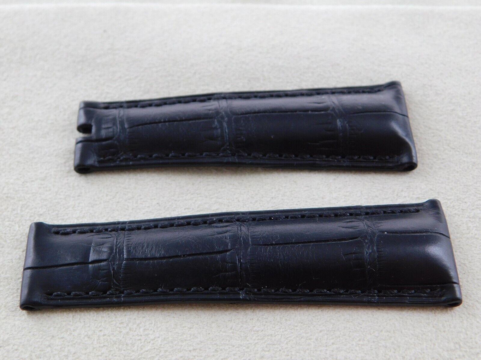 Neuware original Rolex echt Aligator Armband schwarz 20-15,5  für Faltschließe