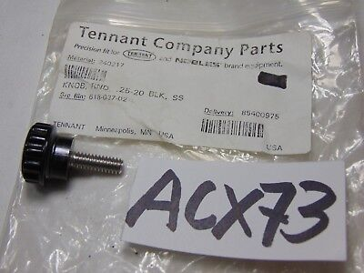 Tennant Carpet Extractor Replacement Part Round Knob 618-037-02 .25-20 Black Ss
