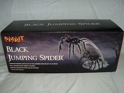 Jumping Spider Halloween Decorations (Spirit Halloween Black Jumping Spider Animated Prop Decoration)