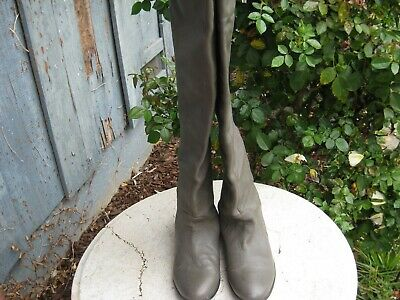 dolce vita gray brown Leather Over The  Knee boots woman's Size 8 M nice!
