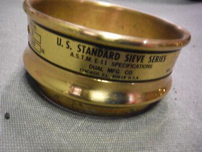 Us Standard Sieve Series Dual Mfg Co. Sieve No 80 .0070 3 12 Diameter
