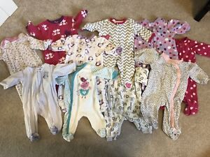 0-3 months pajamas and onesies   Sold ppu