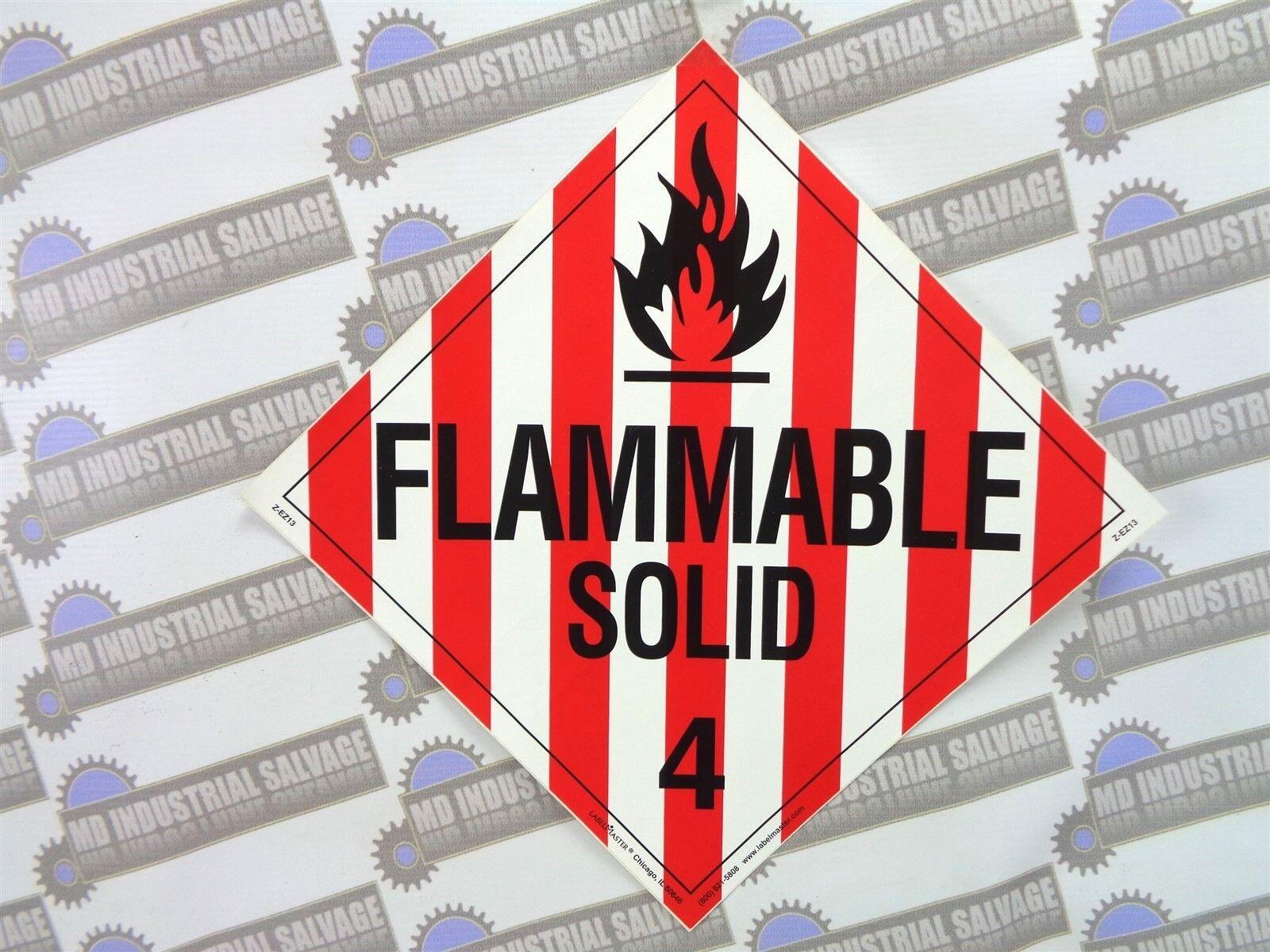 "Z-EZ8 WARNING Sticker 10-3//4/"" x 10-3//4/"" NEW LabelMaster FLAMMABLE GAS 2 PN"