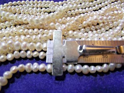 Beautiful 3 mm Fresh Water Ivory Pearls 1 strand P lot - Ivory Pearls