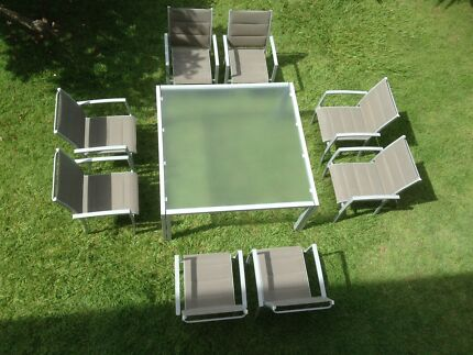 Big 1.5m Square 9 Piece Outdoor Setting