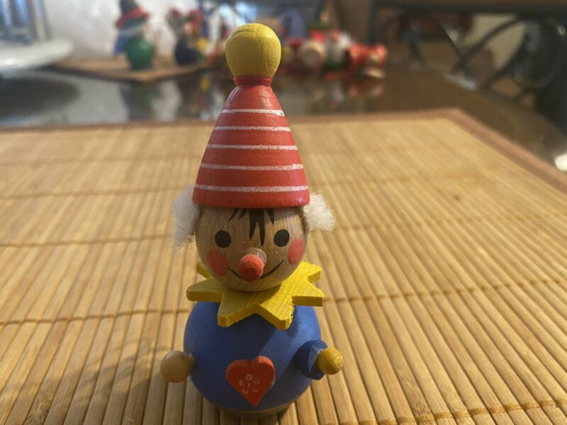 Vintage  Steinbach Clown  Christmas Ornament