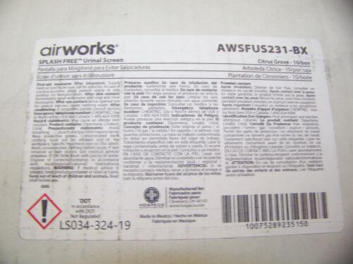 Airworks Splash Free Urinal Screen Citrus Grover Light Orange 10 ea AWSFUS231-BX