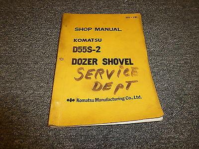 Komatsu D55s-2 Dozer Shovel Tractor Shop Service Repair Manual Sn 1007-up