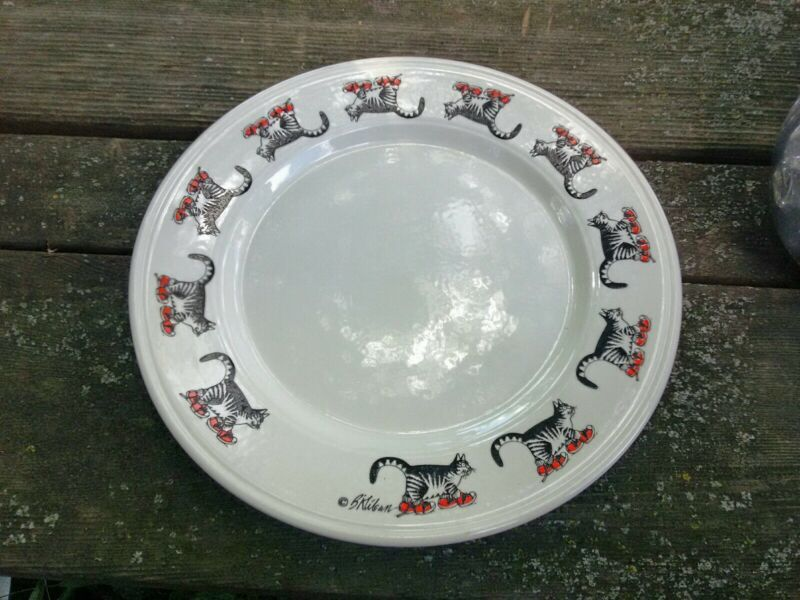 """B Kliban Cat With Shoes Kiln Craft Plate 9"""""""