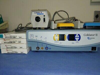 Arthrocare Rf8000e Coblator Ll W Flow Control Valve Unit Foot Pedal 4 Wands