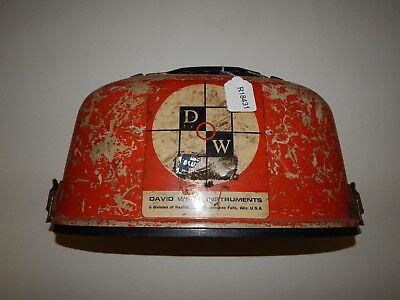 Vintage David White Instruments Dw-8090 Surveyingtransit With Case R18431