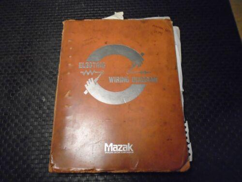 Mazak Multiplex 620 W/T-6 Control Electrical Manual