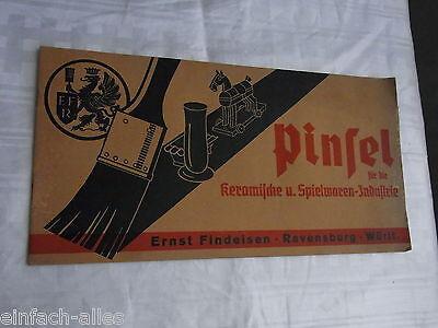 Alter Katalog - Pinsel für die Keramische u Spielwaren Industrie Ernst Findeisen