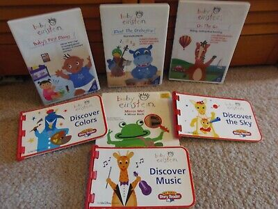baby einstein- board book Mirror Me!; 3 Story Readers (books only) & 3 DVDs