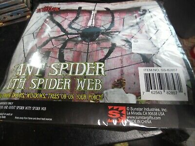 Sunstar The Gothic collection 8ft Giant Spider in Web
