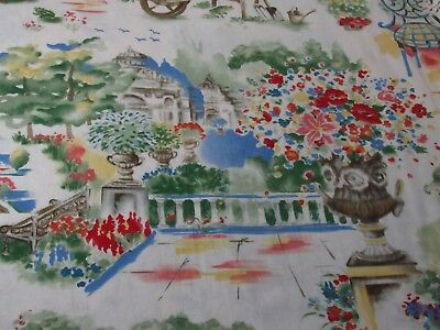 "Bloomcraft Garden Screen Print P-479 Fabric 2 yds 55""W Soil Stain Repellant"