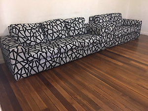 Black & white lounges set Chester Hill Bankstown Area Preview