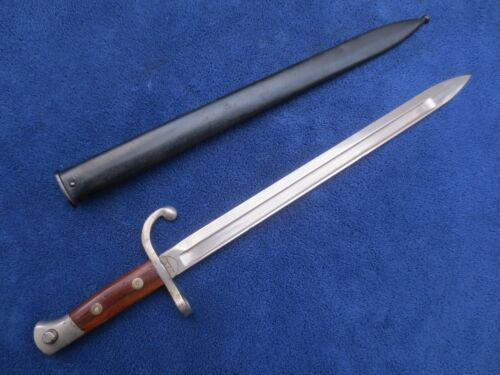 RARE WW1 ORIGINAL US MADE EXPORT BAYONET AND SCABBARD MADE BY HOPKINS AND ALLEN
