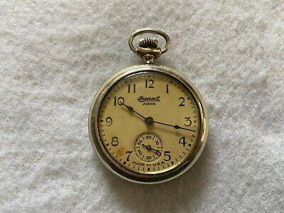 Ingersoll Junior Mechanical Wind Up Vintage Pocket Watch