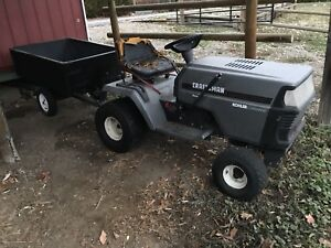Lawn tractor with trailer