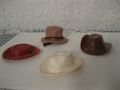 Vintage Marx Gabriel ? &More, Toy Cowboy, Prospector Western Hats Clean Lot L@@K