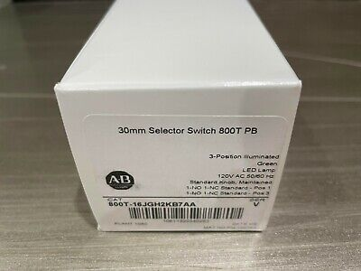 New Allen Bradley 800t-16jgh2kb7aa Ser V 30mm Selector Switch 800t