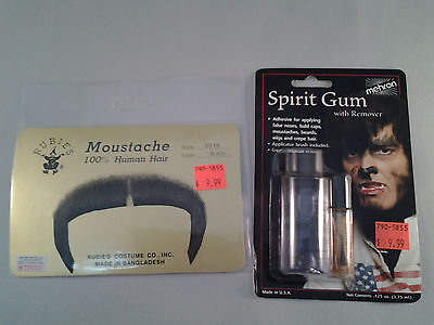 Black Zapata Moustache w/ ADHESIVE Combo 70's 80's 100% Human Hair  Style2016 - 70s Mens Hairstyles
