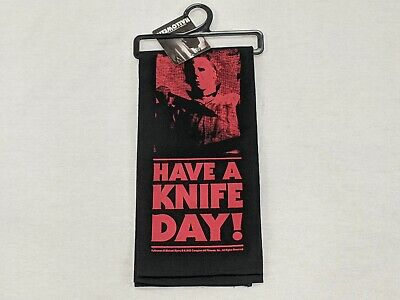 """Michael Myers """"Have a Knife Day"""" Dish Towel Kitchen Halloween II Horror New 2020"""