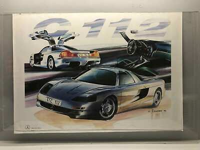 "Vintage 1991 Mercedes-Benz C-112 Racing Poster 33x23 1/4"" Promotion"