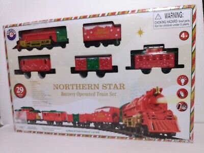 New Lionel Christmas 29pc Train Set Battery Operated 2019 711927 Lights Whisle..