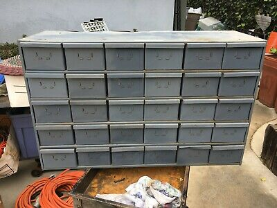 Durham Mfg. 30 Drawer Metal Storage Cabinet Bolt Bin Compartment Nuts Bolts