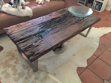 Unique, beautiful coffee table with matching sofa table and sides