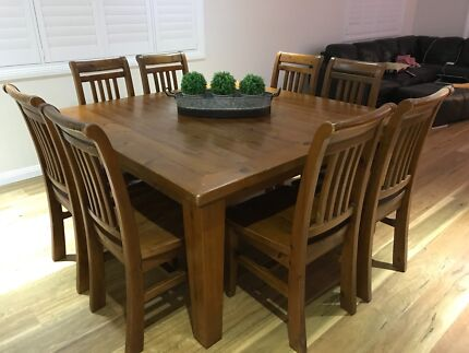 Timber 8 Seater Dining Suite 75000 Negotiable Port Macquarie
